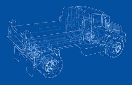Dump truck. Vector Illustration