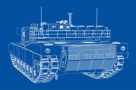 Blueprint of realistic tank