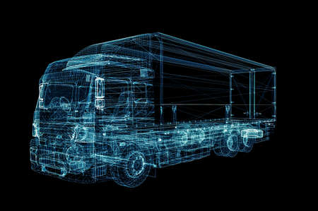 Digital Truck. The concept of digital technology