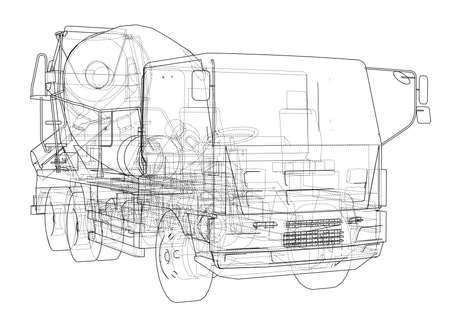 Truck mixer sketch.