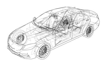 개념 자동차입니다. 벡터