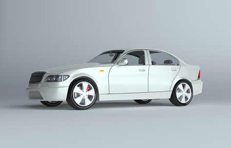 A CG render of a generic luxury sedan. 3d illustration Stock Photo