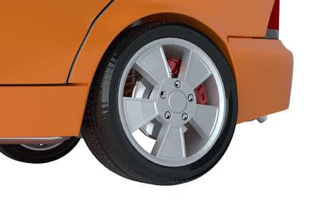 A CG render of a cars wheel