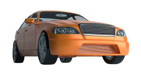 A CG render of a generic luxury sedan