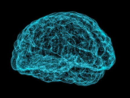 X-ray image of human brain