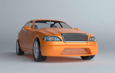 Car on gray studio background Stock Photo