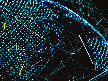 The digital world. A world map connected by a digital network. Abstract submission of payments or networks. 3d illustration Reklamní fotografie