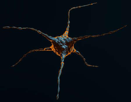 Abstract Illustration Of Neuron Stock Photo