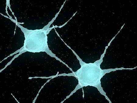 Abstract Illustration of Neurons In The Head Brain