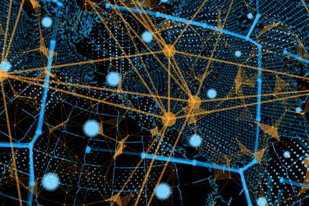 グローバルビジネスのインターネット概念 写真素材