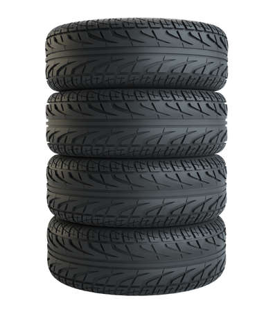 New tyres, isolated on white background Reklamní fotografie