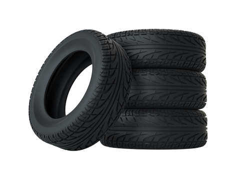 Car tires isolated on white Stock Photo - 96202393