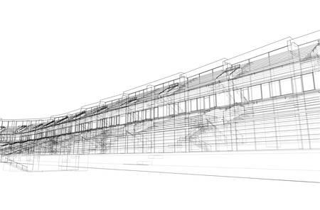 Soccer Stadium or Football Arena Concept. Vector Illusztráció