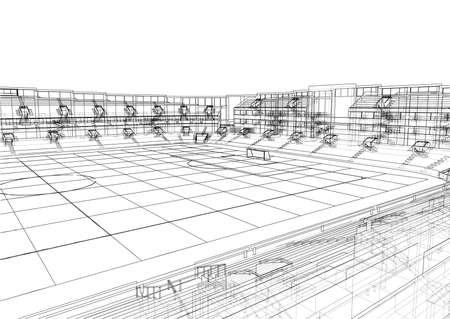 Soccer Stadium or Football Arena Concept. Vector Illustration