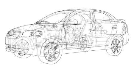 Concept car Vector 矢量图像