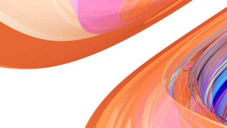 Curvy Abstract Background. 3d illustration Stock fotó - 97810766