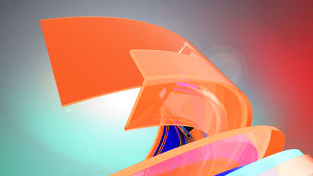 Curvy Abstract Background. 3d illustration