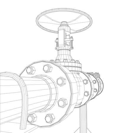Wire-frame industrial valves