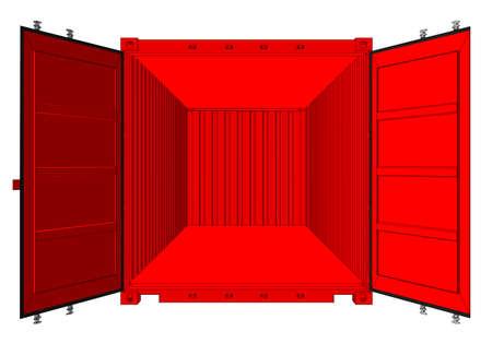 Open cargo container