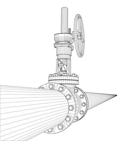 Industrial valve. 3d illustration