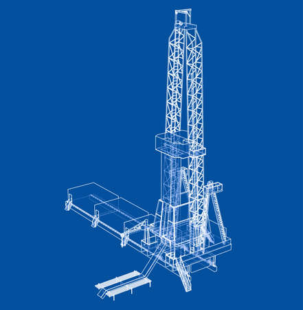 Oil rig. 3d illustration