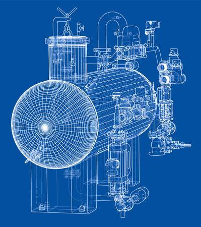Sketch industrial equipment