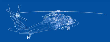 Helicopter outline. Military equipment