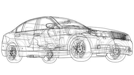 Konzept Auto Umriss