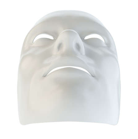 White mask similar to the robots face