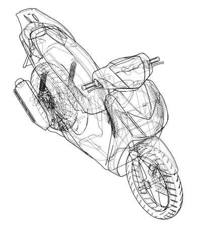 Scooter outline concept. Vector illustration. Vettoriali