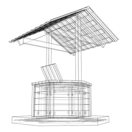 Water Well project. Vector Illustration