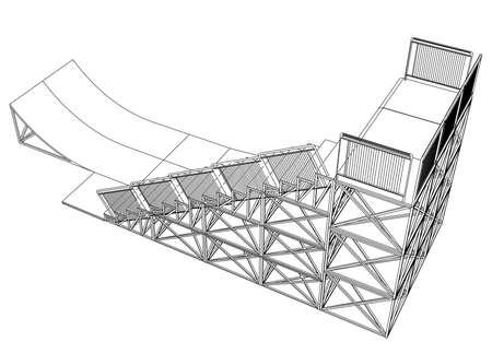 Ramp concept outline. Vector 向量圖像