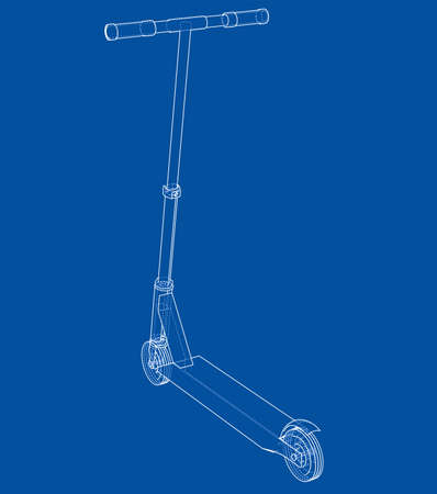 Kick scooter outline. Vector
