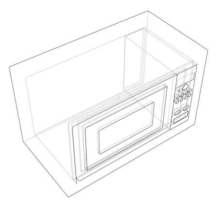 Microwave concept. Vector