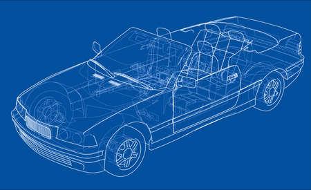 Car cabriolet concept. Vector