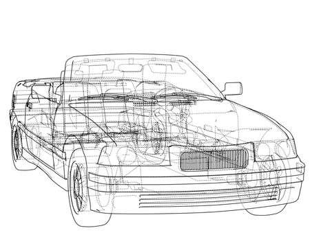 Koncepcja samochodu kabriolet. Wektor