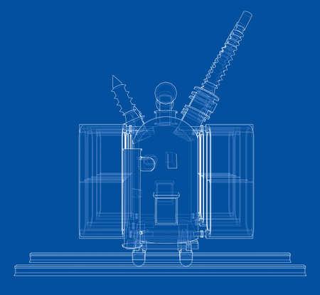 Power transformer concept. Vector