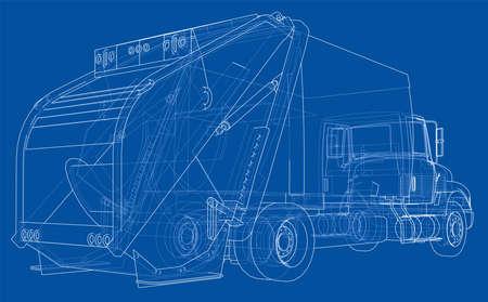 Garbage truck concept. Vector