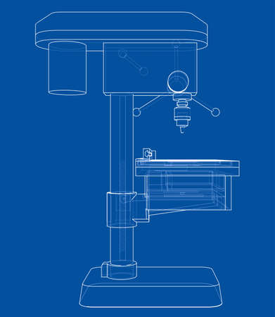 Drilling machine concept Illusztráció