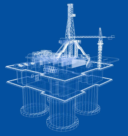 Offshore booreiland boorplatform concept