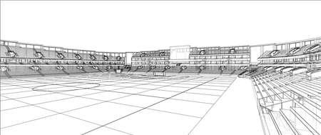 Sketch of Football stadium