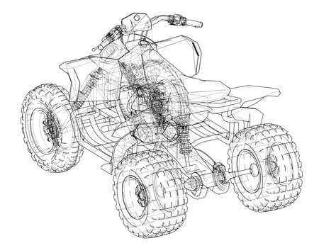 ATV quadbike concept outline