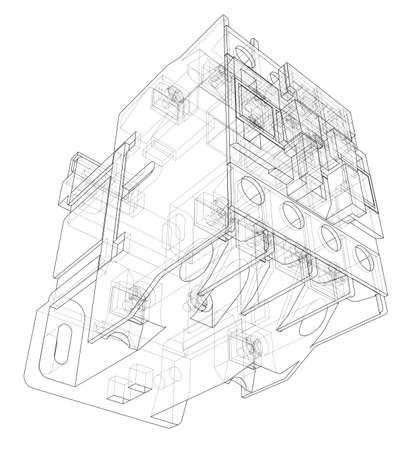 Automatic circuit breaker concept Stockfoto