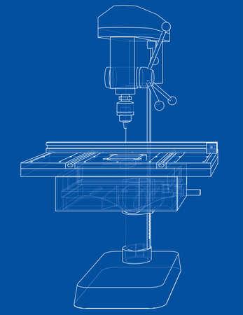 Drilling machine concept Stock fotó