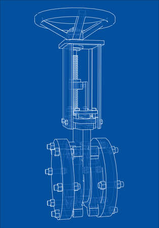 Industrial pipeline gate valve Concept