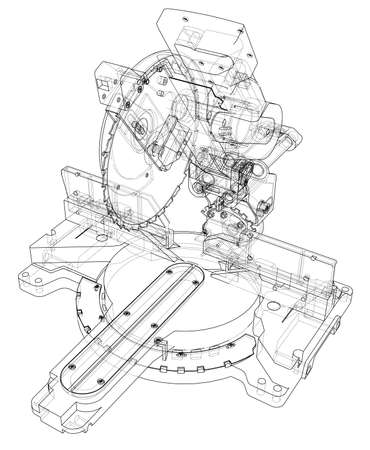 Mitre saw blade concept 版權商用圖片