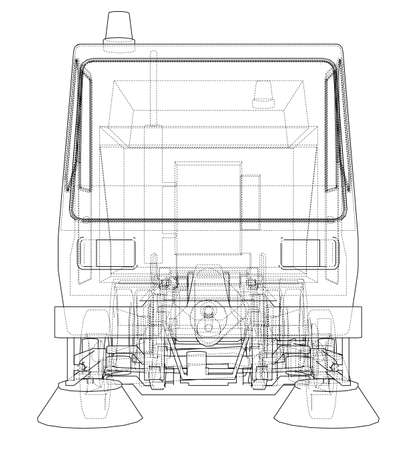 Small Street Clean Truck Concept 写真素材