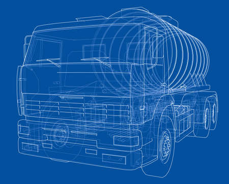 Truck with tank concept Imagens - 113052210