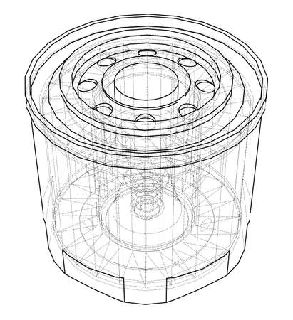 Vector oil filter concept Vektoros illusztráció
