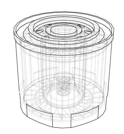 Vector oil filter concept Vettoriali